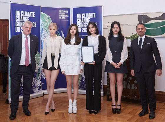 BLACKPINK as Official Advocates for UN Climate Change Conference COP26